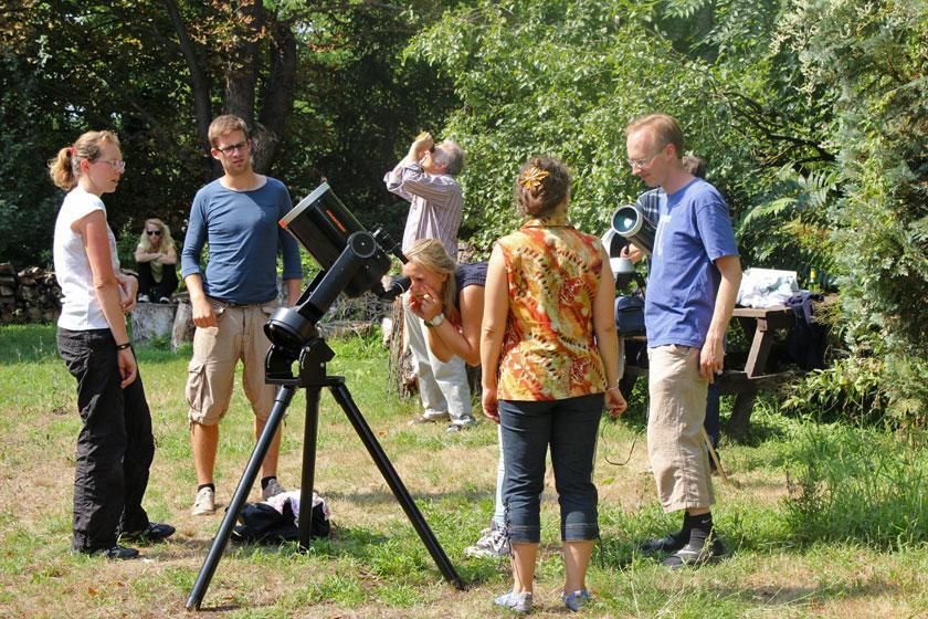 Sonnenbeobachtung; Credit: Susanne Hoffmann